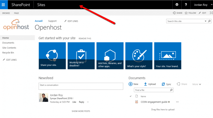 design and app launcher sharepoint 2016
