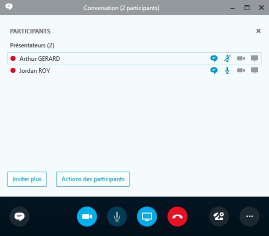 Appel audio et vidéo avec Skype Entreprise