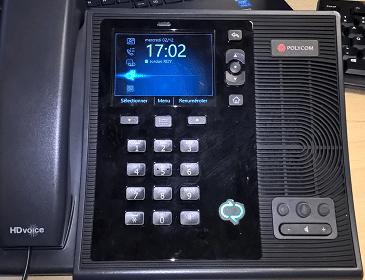 Téléphonie IP Skype Business avec Polycom