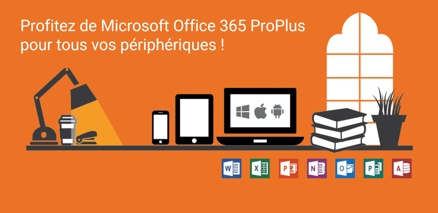 Le programme Office 365 ProPlus est éligible avec le Shared Computer Activation