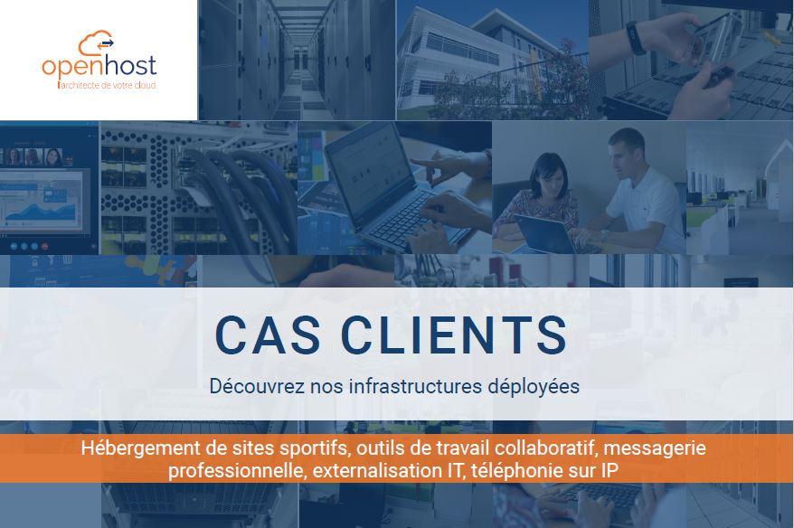 exemple hébergement cloud en France cas clients architecture serveur Microsoft infrastructure on premise et azure Cloud