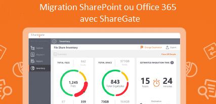 Migration sharepoint 2016 et Office 365 avec Sharegate