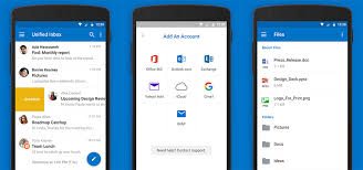Application Outlook Exchaneg pour Android avec synchronisation des boites mails Microsoft Outlook
