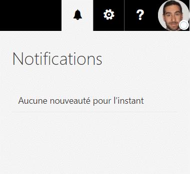 Configuration des notifications Outlook paramètres mails