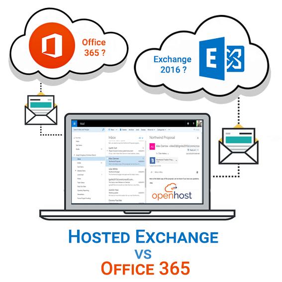 Hosted Exchange ou Office 365 Exchange online, quelle messagerie professionnelle choisir ?