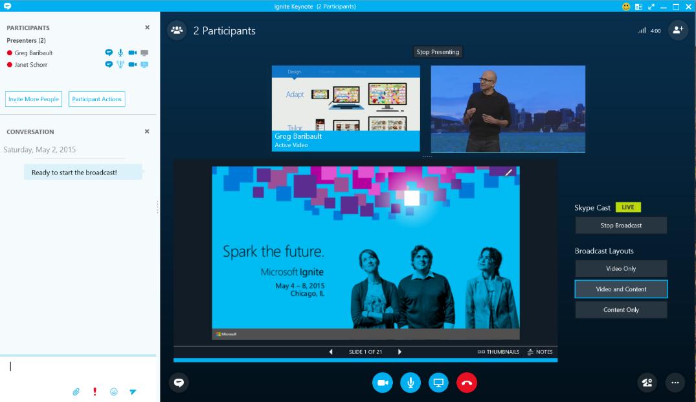 Videoconference Skype for Business online