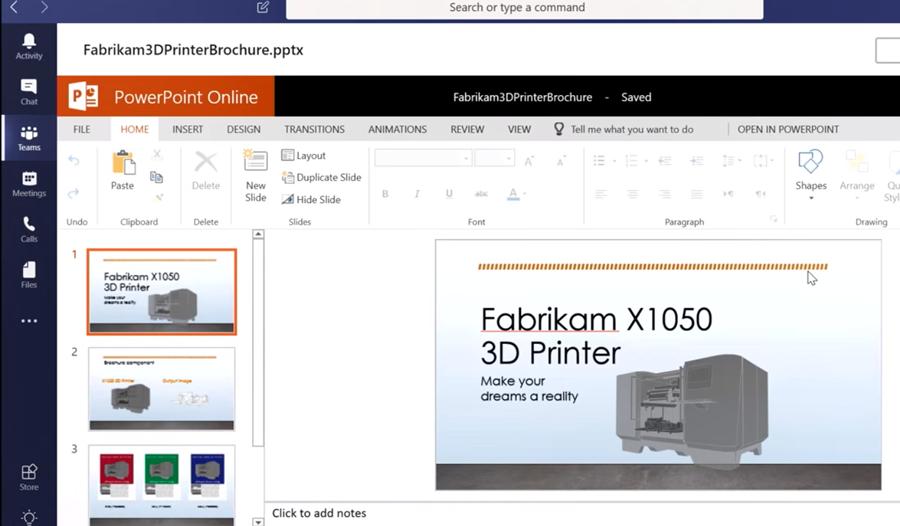 Collaborer sur les applications Office 365 dans Teams