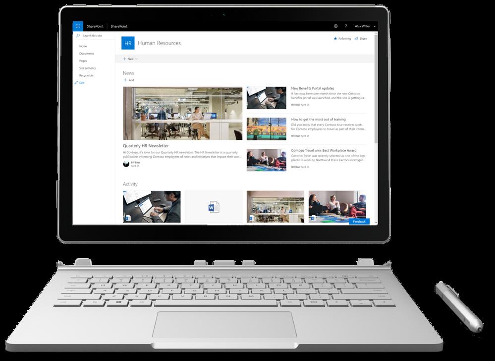 Interface moderne SharePoint Server 2019