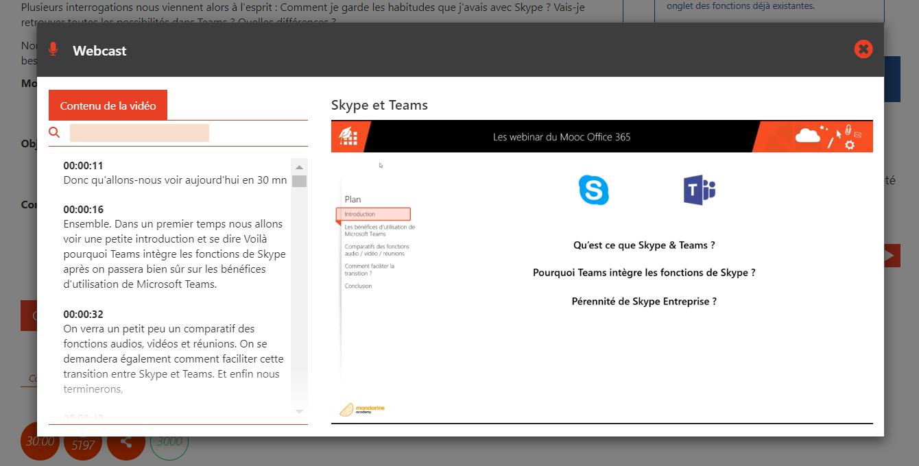 Webinars et webcasts en ligne formation Microsoft Office 365
