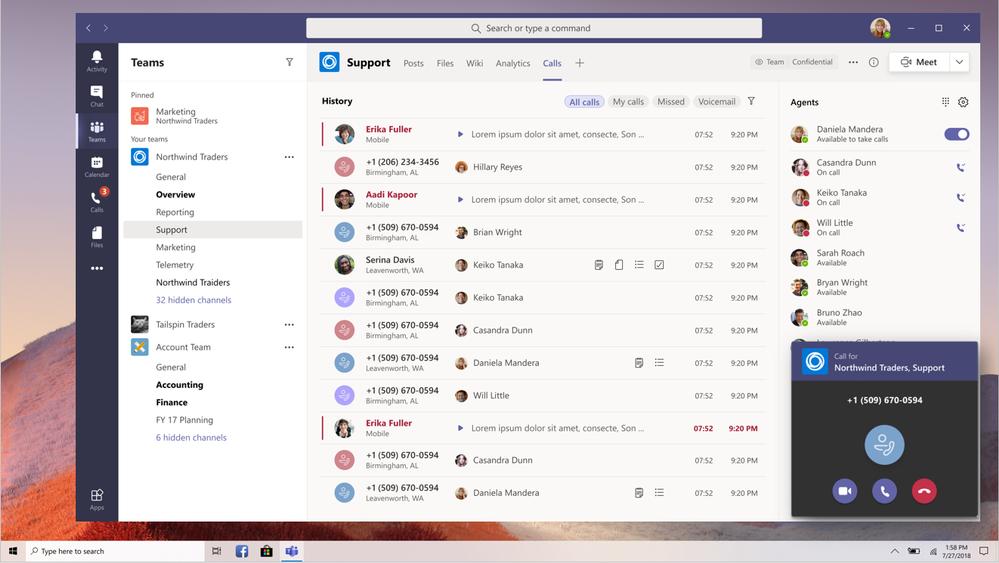 Collaborative calling Microsoft Teams Ignite 2020