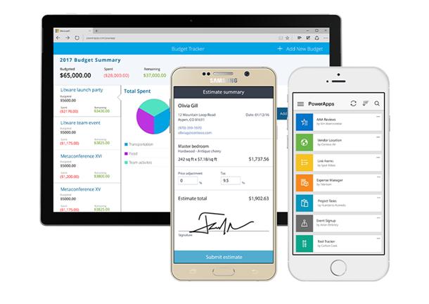 powerapps avec dynamics 365 et flow pour gérer devis et factures