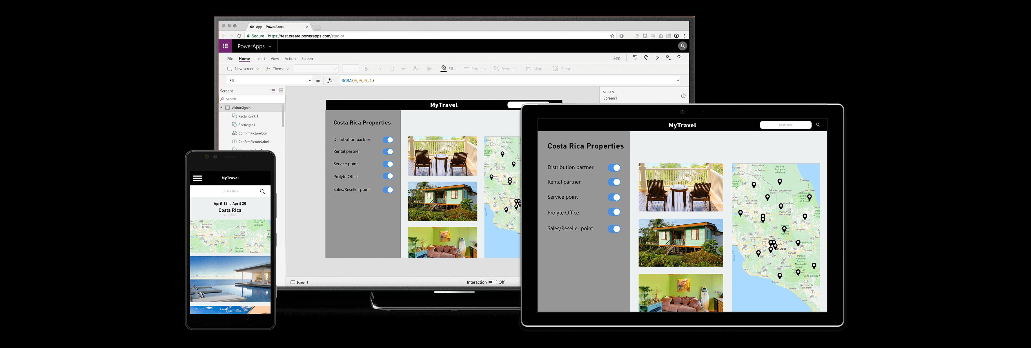 powerapps applications mobiles périphériques