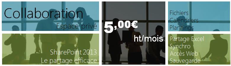 Espace Collaboratif SharePoint 2013 pour TPE PME heberge en france 2