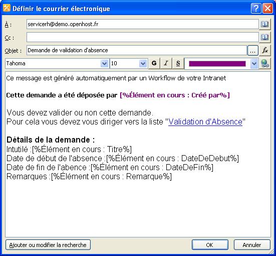 Guide : créer un Workflow avec SharePoint 2010/2013   OpenHost